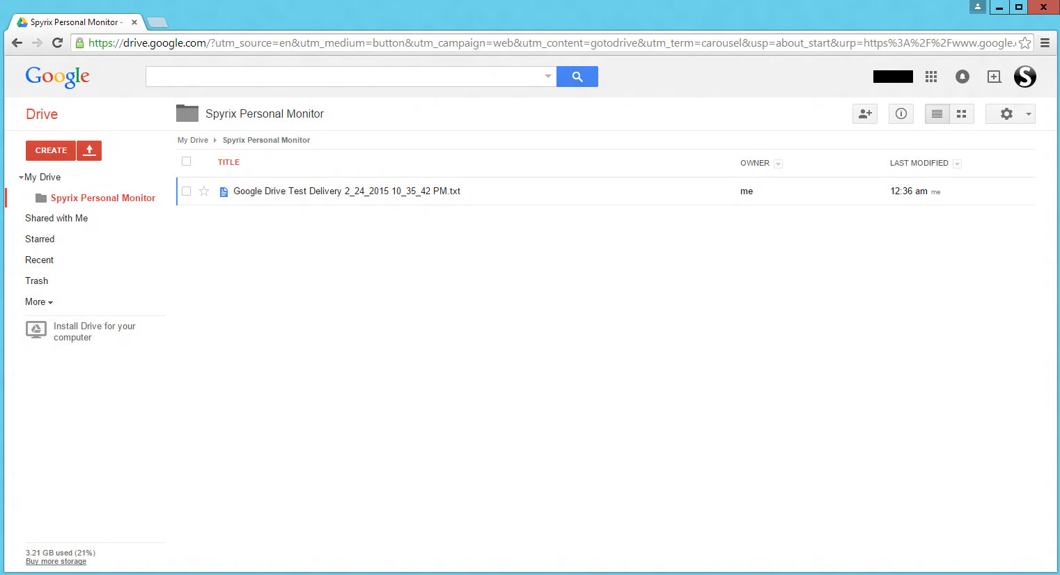 send logs via google drive