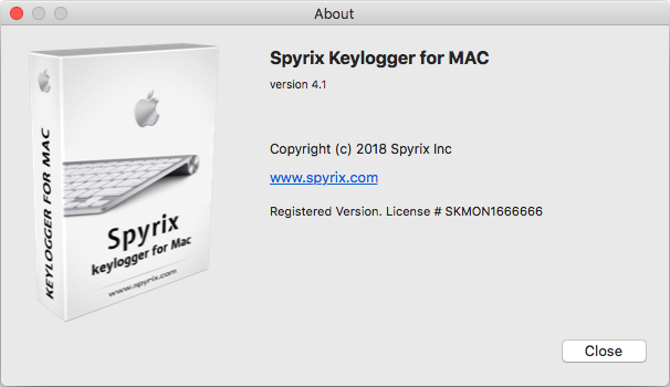 Spyrix Keylogger for Mac